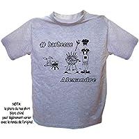 Texti-Cadeaux-Tee shirt Barbecue-personnalisé avec un prénom exemple Alexandre