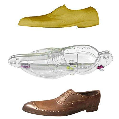 fasloyu Schokolade Form 3D Leder Schuhe Pralinenform Candy Kuchen Jelly Form Hochzeit Dekorieren DIY, plastik, silber, 21.7x9.9 (Leder Schuhe Schokolade)