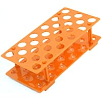 Sourcingmap orange 28Positionen 17mm Loch Dia Test Tubes Halter Ständer Rack