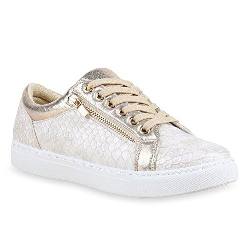 buy popular 7fba6 e751d Moderne Damen Sneakers Lack Zipper Sportschuhe Freizeit ...