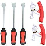 KKmoon 3 Palanca de Neumático Tool Spoon + 2 Kit de Herramientas Borde Protector de Rueda Extracción para Cambio Llanta de Bicicleta
