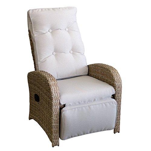 Polyrattan Relaxsessel Fernsehsessel Gartensessel Loungesessel mit Fußteil