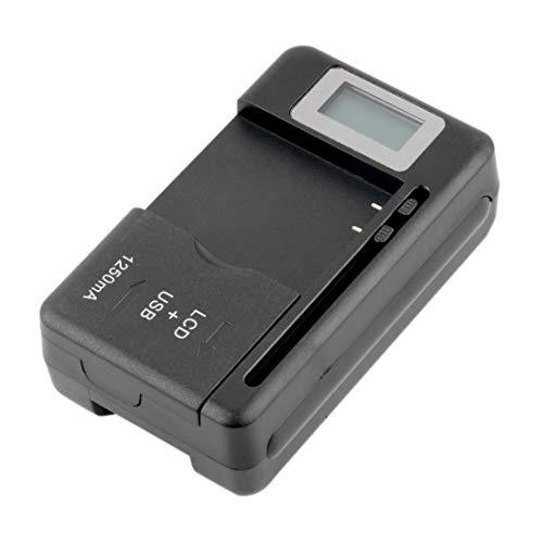 Swiftswan Chargeur de Batterie Mobile Universel Ecran indicateur LCD pour téléphones Portables avec Chargeur de Port USB pour la Plupart des Batteries au Lithium-ION