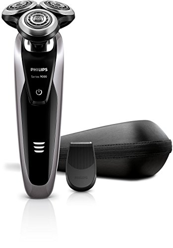 Philips S9111 S9111/12 Series 9000 Face Wet and Dry Electric Shaver with Detail Trimmer (100-240V)