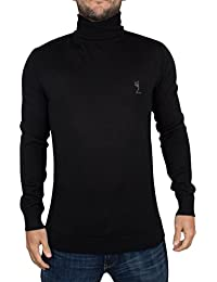 Religion Homme Craving Merino à col roulé en tricot Logo, Noir