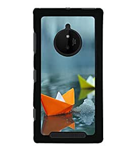 Colourful Paper Boats 2D Hard Polycarbonate Designer Back Case Cover for Nokia Lumia 830 :: Nokia Lumia 830 RM-984