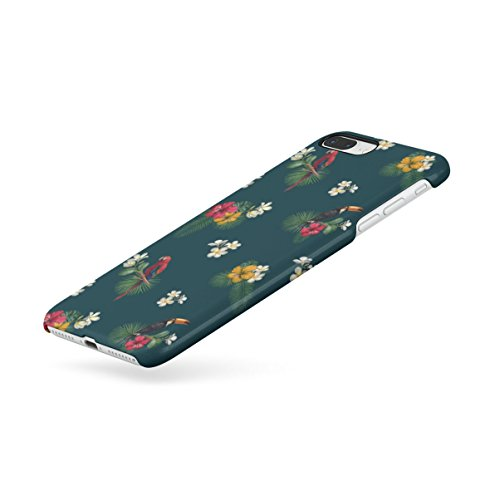 Tropical Hibiscus Flower & Flamingo Birds Pattern Apple iPhone 7 Snap-On Hard Plastic Protective Shell Case Cover Custodia Tucan Parrots