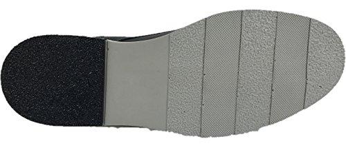 Scarpe Stringate In Pelle Da Uomo Derby Business Caprium, Modello Gawen, Nero Di Qualità Premium