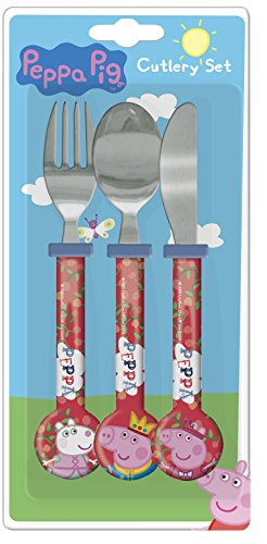 Image of Peppa Pig 1.5 x 11 x 23.20 cm Round Cutlery, Pack of 3