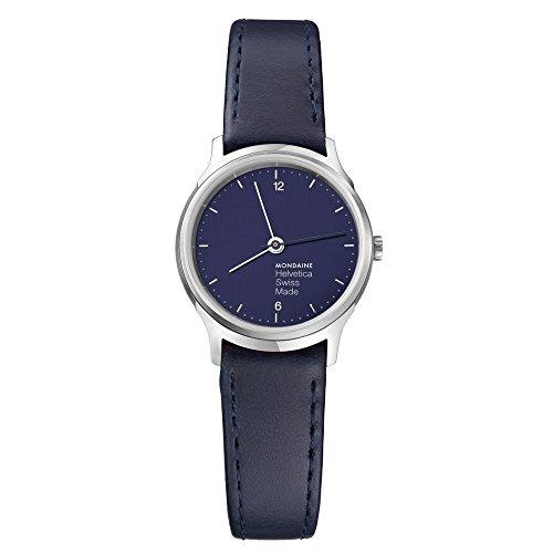 Mondaine Helvetica Bleu Marine Light Unisex Wristwatch 38mm Quartz MH1L1140LD