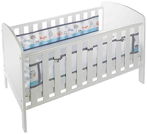 BreathableBaby Stoffverkleidung für Kinderbettchen, 2Seiten, Motiv: Zauberwald Air-mesh-liner