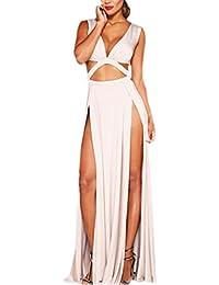 Generic Women High Waist Hollow Out Maxi Dress
