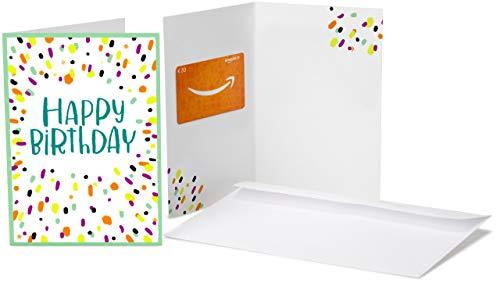 Amazon.de Geschenkkarte in Grußkarte - 20 EUR (Geburtstagskonfetti) 20