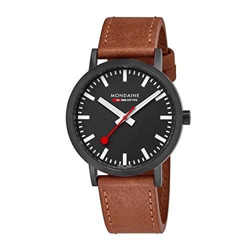 Mondaine Unisex-Adult Analog Swiss-Quartz Watch with Leather Strap A660.30360.64SBG