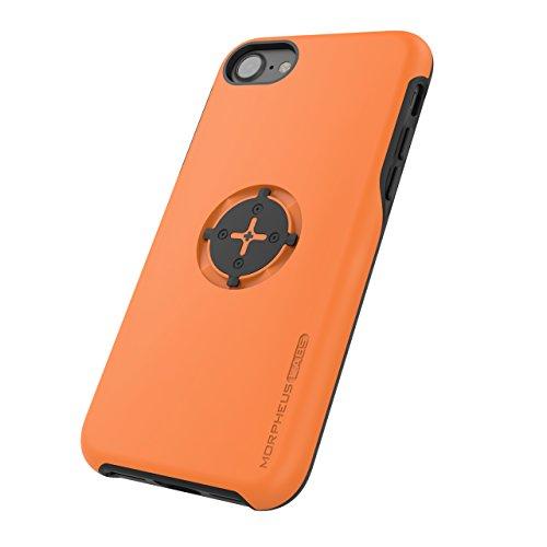MORPHEUS LABS M4s Case, Schutzhülle für Apple iPhone 7, Hülle passend für M4s Bike Kit Halterung/Mount für Fahrrad-Navigation mit patentiertem magnetischem Schnell-Verschluss, orange [Orange]