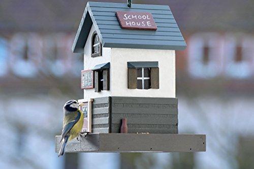 dobar 25110FSC Buntes Deko Vogelhaus Western zum Aufhängen aus Holz, Futterhaus School, bunt - 5
