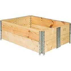 TecTake Cadre pour plate-bande surélevée de jardin pliable en bois potager 120x80x19cm - diverses quantités - (2x Cadre plate-bande | no. 402271)