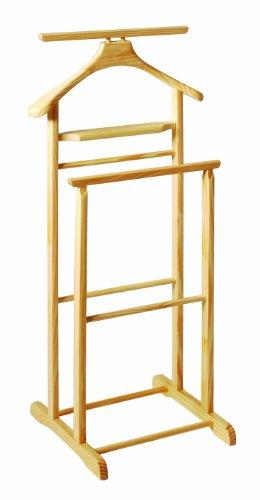 HAKU Möbel Herrendiener - Massivholz mit Hosenbügel  Höhe 102 cm