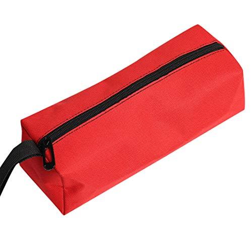 Motor Lagerung Stehen (Happy Event Werkzeugtasche mit Reißverschluss Organisieren Sie Lagerung Kleinteile Handwerkzeug Klempner Elektriker (Rot))