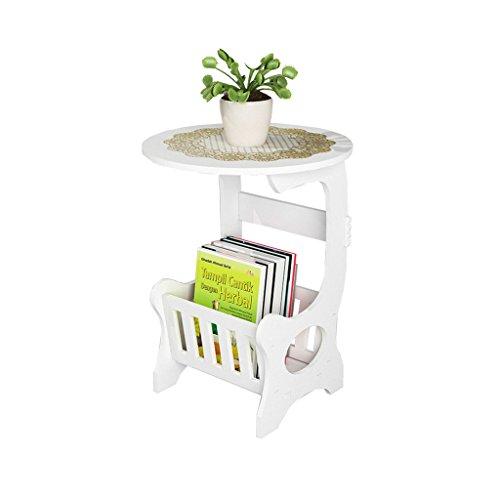 Badezimmer Regal Europäische Moderne Kaffee und Tee Tabelle Einfache Schlafzimmer Mini Nacht Kleine Runde Weiße Tabelle Wohnzimmer Runde Casual Kleine Kaffee und Tee Tisch Duschkugelecke Wasserdicht -