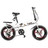 Llq2019 Vélo pour Enfants Vélo Pliant de 16 Pouces Freins à Disque Une Roue 814...