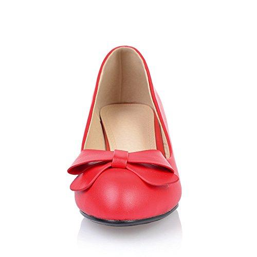 Adee semplice pompe Scarpe da donna in poliuretano Rosso (rosso)