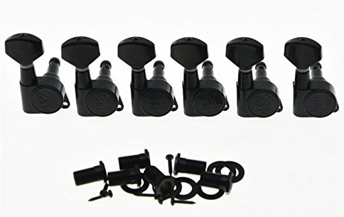 Wilkinson schwarz E-Z Lok Post Gitarre Tuner Tuning Keys Pegs Maschine Köpfe für Strat Tele (Ez Keys)
