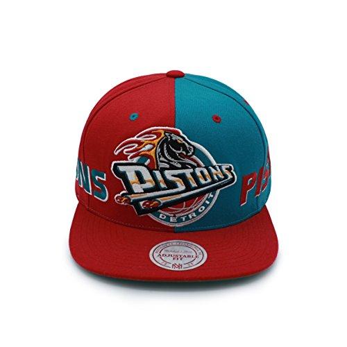 e Cappy Cap Herren Pistons Detroit Rot Blau ()