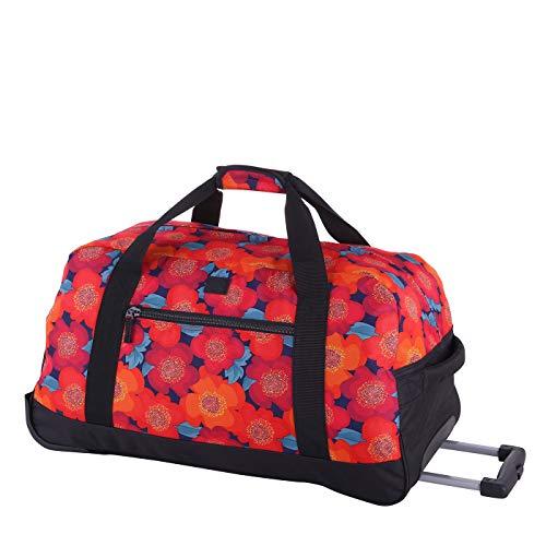 Rada Reisetasche mit Rollen RT/32/M mit 78 Liter Volumen mit Rollen und ausziehbarem Teleskopgestänge, wasserabweisend für Jungen und Mädchen, Reisetasche perfekt für den Urlaub (multiflower)