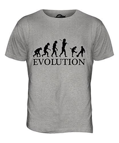 CandyMix Kinder Spielen Fußball Evolution Des Menschen Herren T Shirt Grau Meliert