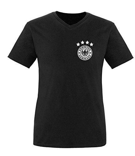 Luckja EM 2016 Deutschland Trikot Wunschname und Wunschnummer Motiv 14 Herren V-Neck T-Shirt