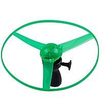 TOOGOO(R) Divertido Juguete de disco volante enciendido LED rojo azul verde