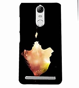 PRINTSOPPII Couple Back Case Cover for Lenovo K5 NOTE::Lenovo Vibe K5 Note Pro