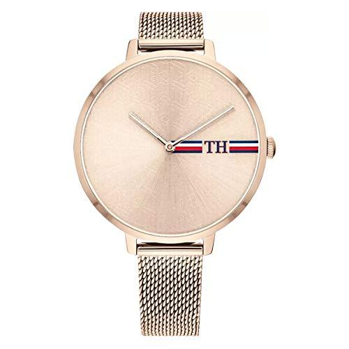 Tommy hilfiger orologio analogico quarzo donna con cinturino in acciaio inox 1782158