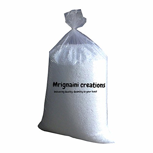 Mrignaini Creations Bean Bag Refill Supreme Grade A High Density 100 Grams beans, White Beans  available at amazon for Rs.140