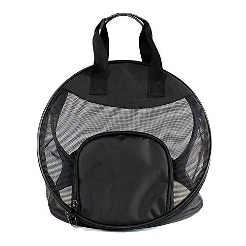 LMHGLZP Breathe Gehen Katze Tasche Portable Tasche Cage Pet Teddy Hund Tasche Hand Falten, schwarz