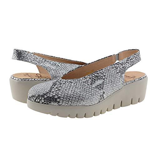 Zapatos C-33152 Wonders Talla: 40 Color: Plata