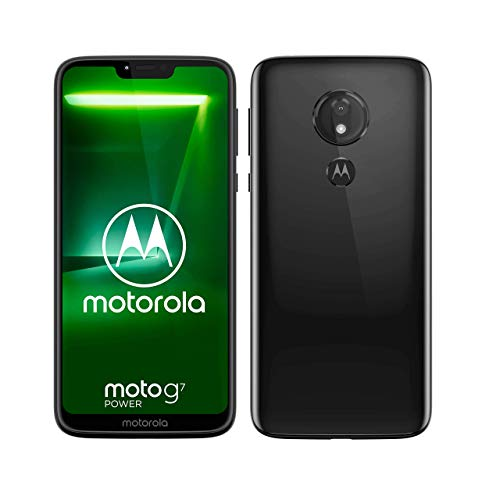 moto g7 power Dual-SIM Smartphone (5000mAh Akku, 6,2 Zoll Bildschirm, 12-MP-Kamera, 64GB/4GB, Android 9.0) Ceramic Black