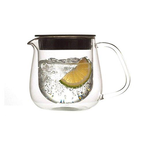 Doppelschichtiger, Hochtemperaturbeständiger Glas-Teekessel 350ml ()