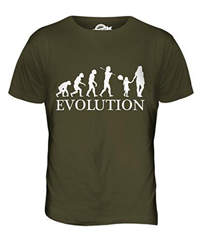 CandyMix Festeggiata Evoluzione Umana T-Shirt da Uomo Maglietta Verde oliva