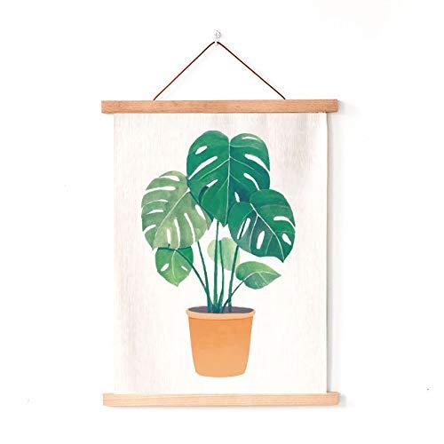 Mmzki Pequeña Planta Tropical Fresca Colgar Tela