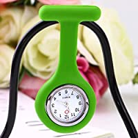 RoadRomao Mini portátil Gel de Silicona Doctor Enfermeras Broche Pin Pocket Fob Túnica Reloj