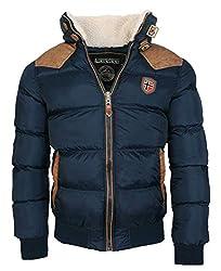 Geographical Norway warme Winterjacke Designer Herren Winter Stepp Jacke [GeNo-31-Navy-Gr.L]