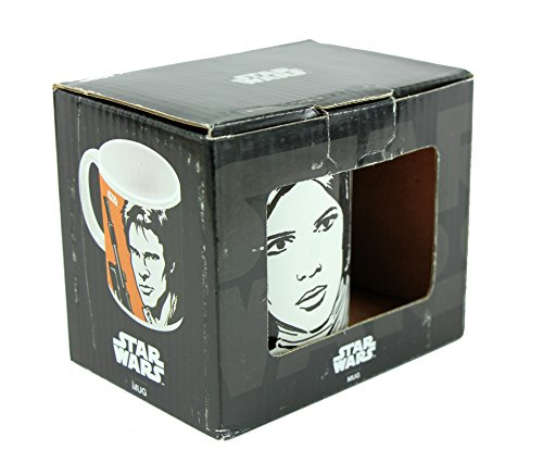 Disney Star Wars Han Solo und Prinzessin Leia Tasse in Box (Prinzessin In Star Wars)