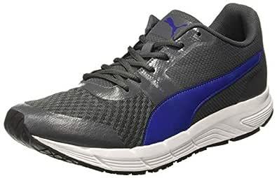 Puma Men's White Black-Iron Gate-Sodalite Blue Running Shoes-6 UK/India (39 EU) (4059507792709)