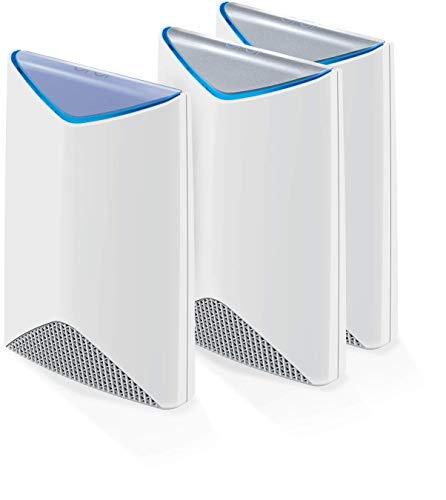 NETGEAR Orbi Pro SRK60B03-100EUS Business WLAN-Mesh-System für Unternehmen (3.000 MBit/s Tri-Band Mesh Router + 2 Satelliten, 3er Set bis zu 525 m² Abdeckung, AC3000) - Decken Wand Outlet