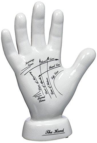 Design Toscano Hand mit Handleselinien, Porzellan