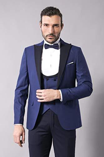 5ef1c28288e8f Kombinli Yelekli Lacivert Damatlık Takım Elbise | Wessi 44 Fiyatları ...