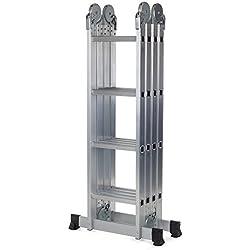 MAXCRAFT Escalera multifunción 6 en 1 de aluminio (4,75 m) / 2016