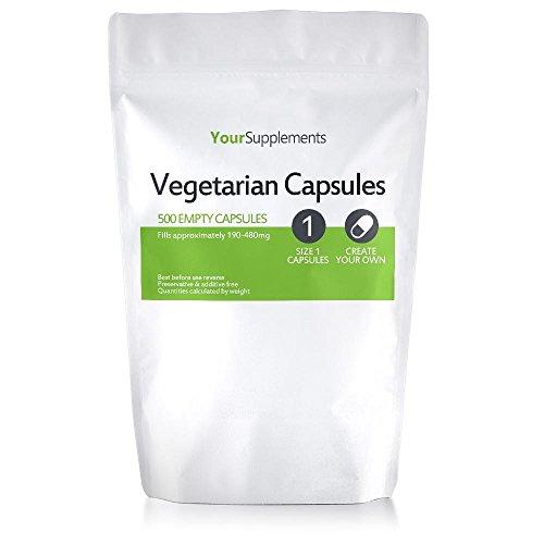 Your Supplements - Gr.'1' Vegetarische Leerkapseln, Transparent, 500 Stück